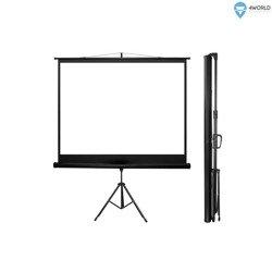 4World Ekran projekcyjny na statywie 170x127 (84'',4:3) Matt White