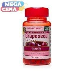 Podwójna Siła Ekstrakt z Pestek Winogron 100 mg Produkt Wegański 50 Kapsułek