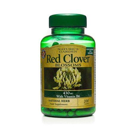 Czerwona Koniczyna 430 mg z Witaminą B6 Produkt Wegański 200 Kapsułek