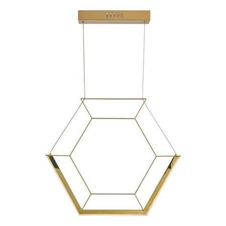 HEXAGON 1LT Lampa Sufitowa Kolor Złoty LED