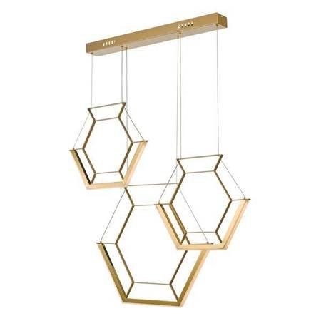 HEXAGON 3LT Lampa Sufitowa Kolor Złoty LED