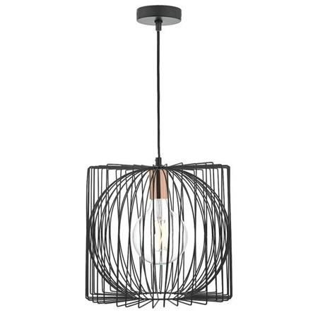 TAPLOW 1LT Lampa Sufitowa Kolor Czarny/ Miedź