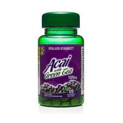 Jagody Acai z Zieloną Herbatą 1500 mg 120 Tabletek