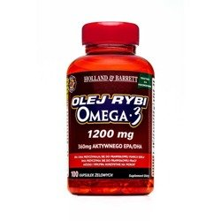 Olej Rybi Omega-3 dla Pescowegetarian 100 Kapsułek 1200mg